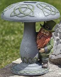 leprechaun garden statue solar 12078