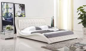 white modern platform bed. Dublin Modern Platform Bed (White) White P