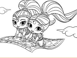 Shimmer And Shine Printables Shimmer And Shine Printable Coloring