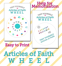 Articles Of Faith Wheel The Gospel Home