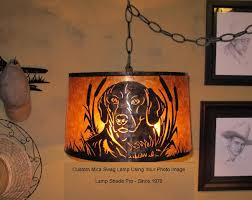 custom mica drum pendant light of customer s pet dog