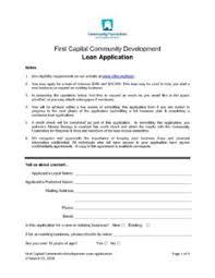 Loan Application Form Loan Application Form V7 15mar18 Community Foundation For Kingston