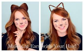 Bows In Hair Style 2 ways to make cat ears with your hair youtube 6658 by wearticles.com