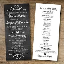 program template for wedding chalkboard wedding program free printable wedding program