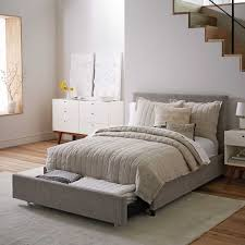 storage bed. Contemporary Upholstered Storage Bed