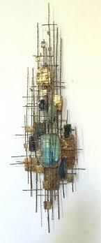 wall sculpture art metal contemporary