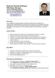 Occupational Health And Safety Resume Examples Best of Shamim Ahmad HSE Manager CV