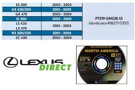 Lexus Navigation Generation Chart New Genuine Oem Generation 2 3 Lexus Navigation Update Dvd