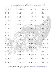 Multiplication Frenzy Worksheet Extraordinary Thanksgiving Math Worksheet Cornucopia Multiplication Facts To