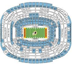 Fedex Field Seating Chart Redskins Fedex Field Seating Chart Www Bedowntowndaytona Com