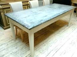 round zinc dining table for good top reviews f