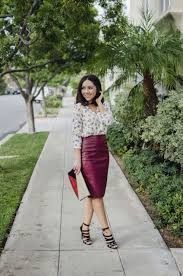 red leather skirt asos