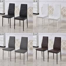 faux leather restaurant dining chairs. 2 4 6 dining chairs kitchen restaurant faux leather high back colors metal legs