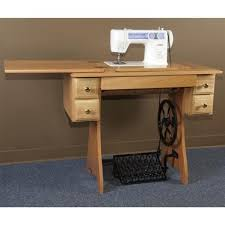Traditional Sewing Machine Cabinet and Treadle Sewing and