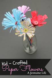 Paper Crafted Flowers Kid Crafted Paper Flowers Dainys Room Pinterest Flowers