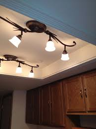 convert that ugly recessed fluorescent ceiling lighting in your kitchen to a beautiful trayed ceiling ceiling spotlights kitchen