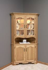 Corner Kitchen Hutch Furniture 17 Best Images About Amish Corner Hutches On Pinterest Queen