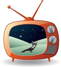 retro tv illustration. vector illustration of retro tv set with a cat   stock colourbox