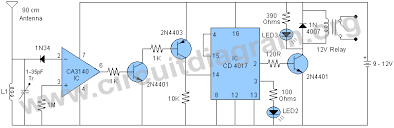 rf remote control relay switch circuit diagram rf remote control relay switch circuit diagram