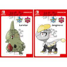 Nintendo Switch Pokemon Sword / Shield Dynamax Crystal Wild Larvitar / Wild  Jangmo-O Dlc Code For Asia Version Only