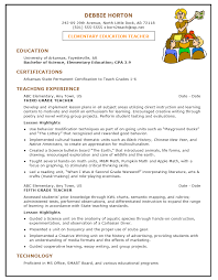 resume template education . elementary ...