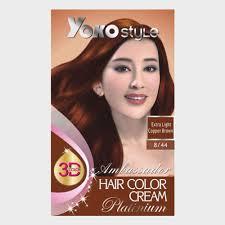 Light Copper Yoko Style Hair Color Cream 8 44 Extra Light Copper Brown