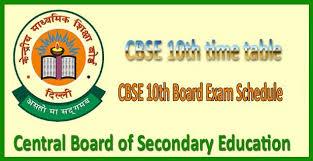 Image result for cbse 10 exam schedule