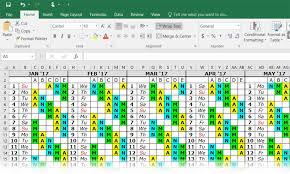 excel calandar excel team calendar shift calendar