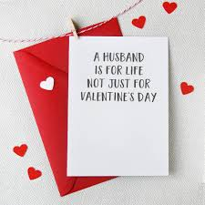 a husband is for life valentine s day card cards wrap