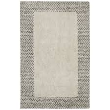 mohawk home spotted border gray beige indoor inspirational area rug common 8 x 10
