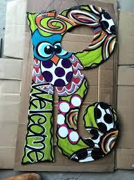 decorative door hangers 7 best decorating wood letters images on creativity painted initial door hanger by