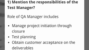Top 20 Test Manager Test Lead Interview Questions And Answers