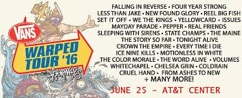 Warped Tour Seating Chart Vans Warped Tour Att Center