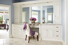 bedroom vanity vintage white polished wooden make up table with drawers and large makeup sets
