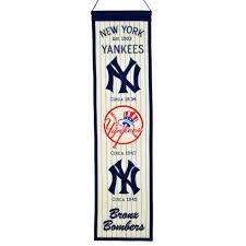 New York Yankees Bedroom Decor New York Yankees Wool Heritage Banner Free Shipping On Orders