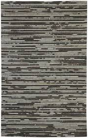 ashley r400281 maddoc series large rug hand woven leather jacquard design in taupe and black wool leather blend backed with cotton no pile dry clean