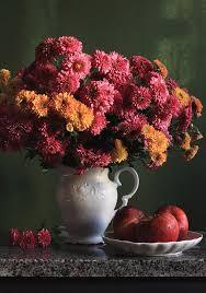 Vertical Photograph - Chrysanthemum Flowers In Vase by Panga Natalie Ukraine