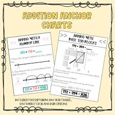 Decomposing Numbers Anchor Chart Addition Anchor Charts
