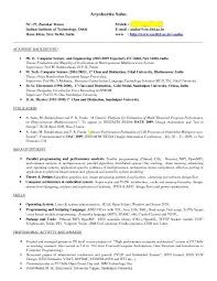 Undergraduate Student Resume Simple Computer Science Resume Iit Placestoread