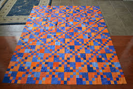 Michelle's Quilts & Stuff: Retreat Recap & This blue and orange quilt is actually kind of pretty in real life. The  picture doesn't show the colors perfectly. I had about 1/2 of these blocks  assembled ... Adamdwight.com