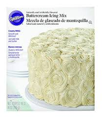 Amazoncom Wilton Creamy White Buttercream Icing Mix 14 Oz