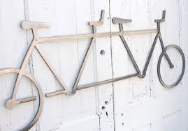 tandem bike metal wall art