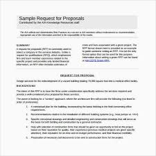 Writing A Proposal Example Sample Proposal Template For Services Luxury Request For Proposal