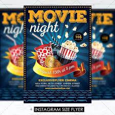 Movie Night Premium Flyer Template 1 Free Word Powerbots Co