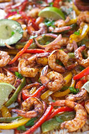 sheet pan shrimp fajitas sheet pan chili lime shrimp fajitas laughing spatula