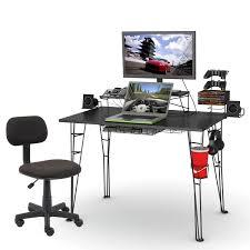 full size of desk attractive ergonomic gaming desk stell rool construction black laminate top built amusing black office desk