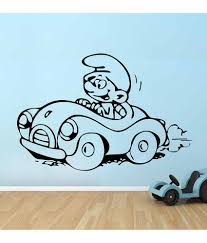 wallskart smurf vinyl wall stickers