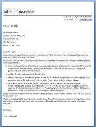 Information Security Specialist Cover Letter Creative Resume