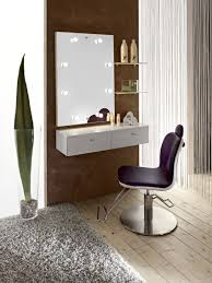 Bedroom:Bedroom Design With Modern Dressing Table And Cream Tufted Single  Sofa Also Round Modern