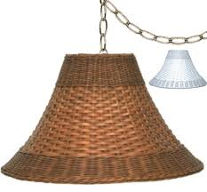 wicker swag lamp brown or white 15 20 w